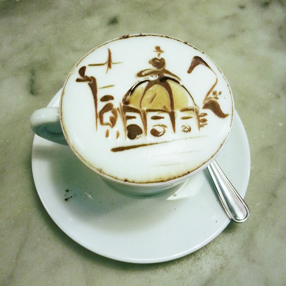 Where can you get a Duomo on your cappuccino: News Caffe!