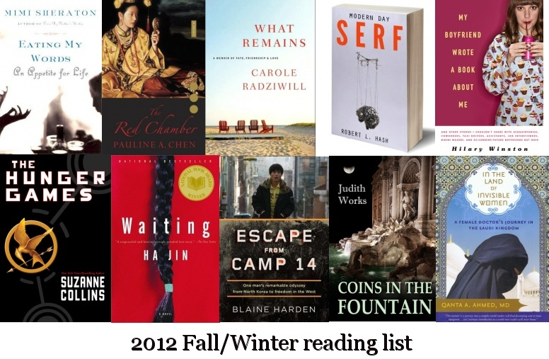 reading list winter 2012