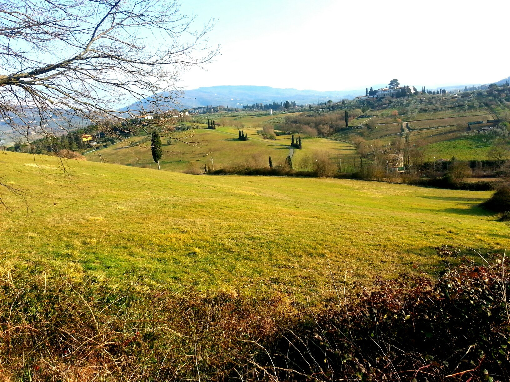 Hiking in the hills above Sorgane in Florence