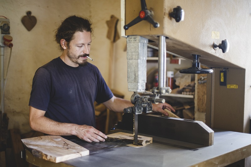 Giorgio in his workshop, photo credit: Maria of EaTravel