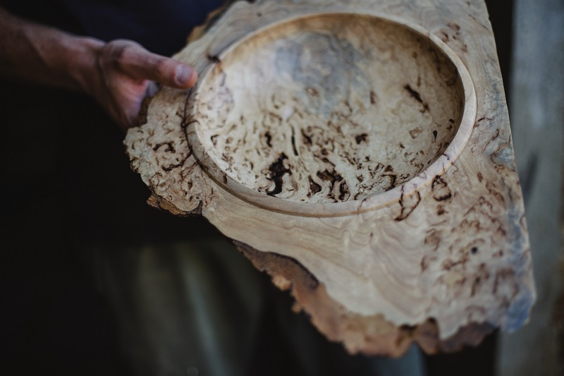Giorgio, artisan wood-turner, photo credit: Maria of EaTravel