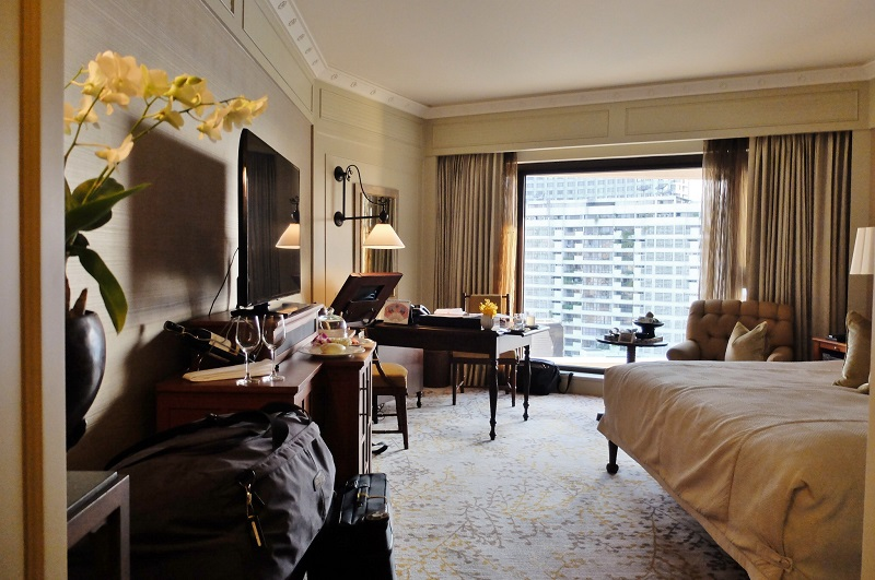 Our river-view deluxe room at the Mandarin Oriental, score!