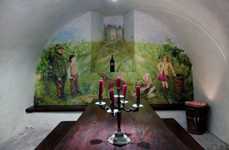 A room dedicated to the old caretaker of Trebbio, in his traditional outfit