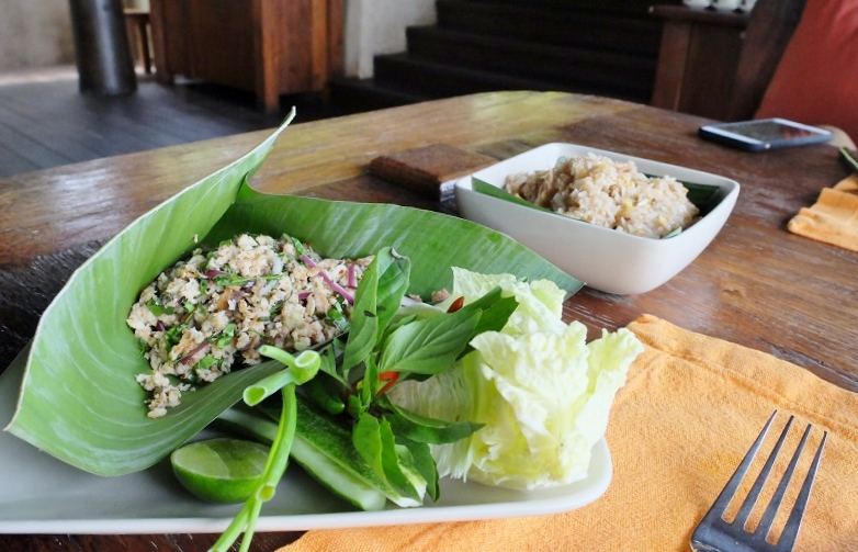 Thai fish, as fresh with local herbs