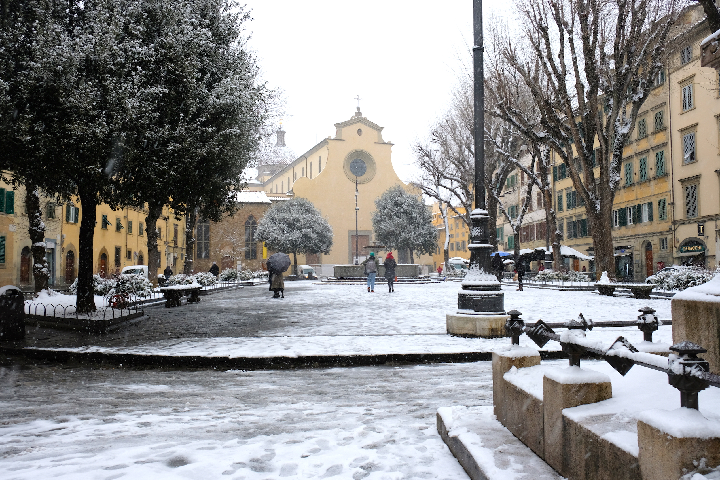City Of Florence: A Rare Snowfall Blankets The City Of Florence And Here Are