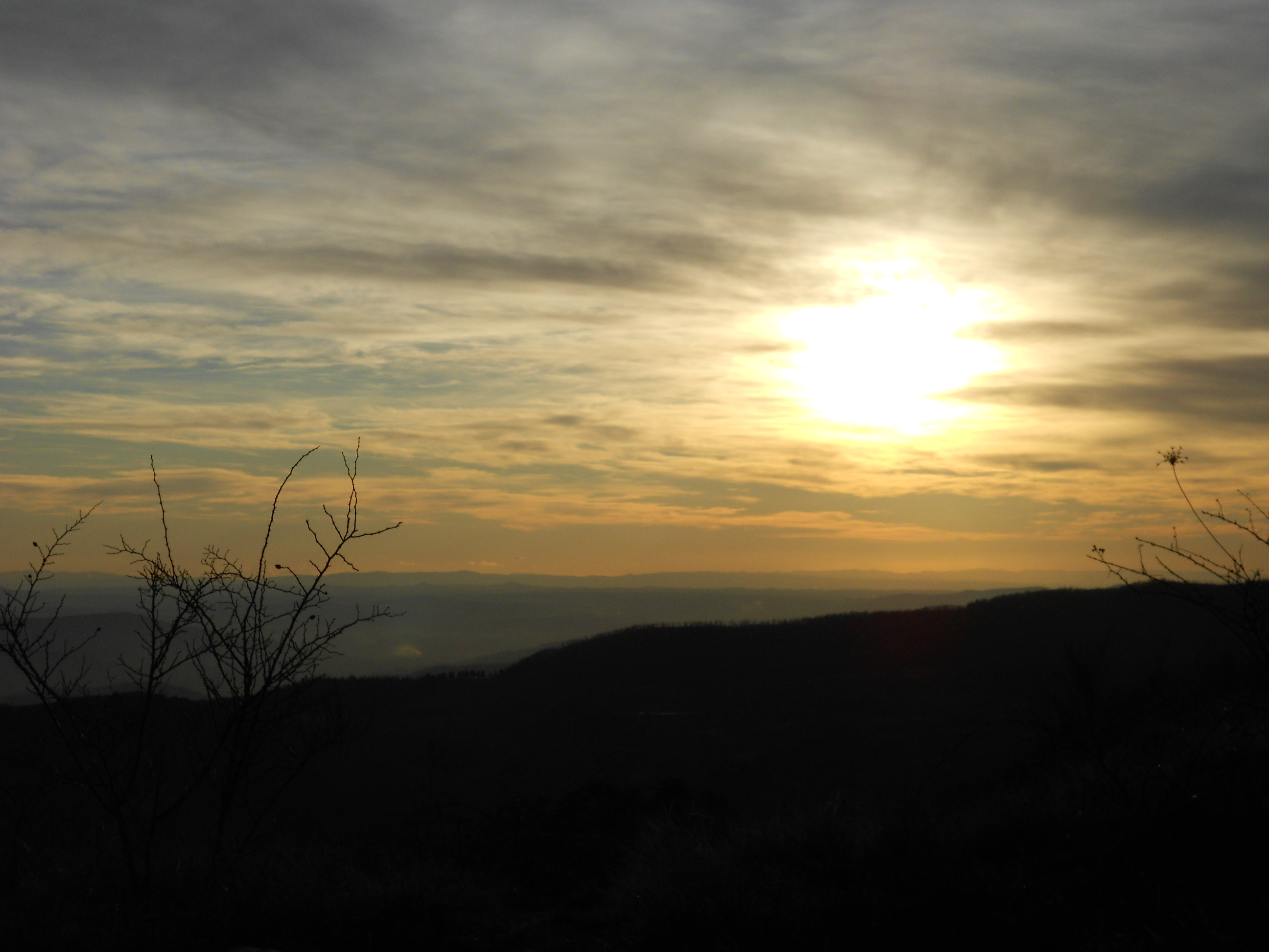 The beautiful and mesmerizing sunset of monte giovi