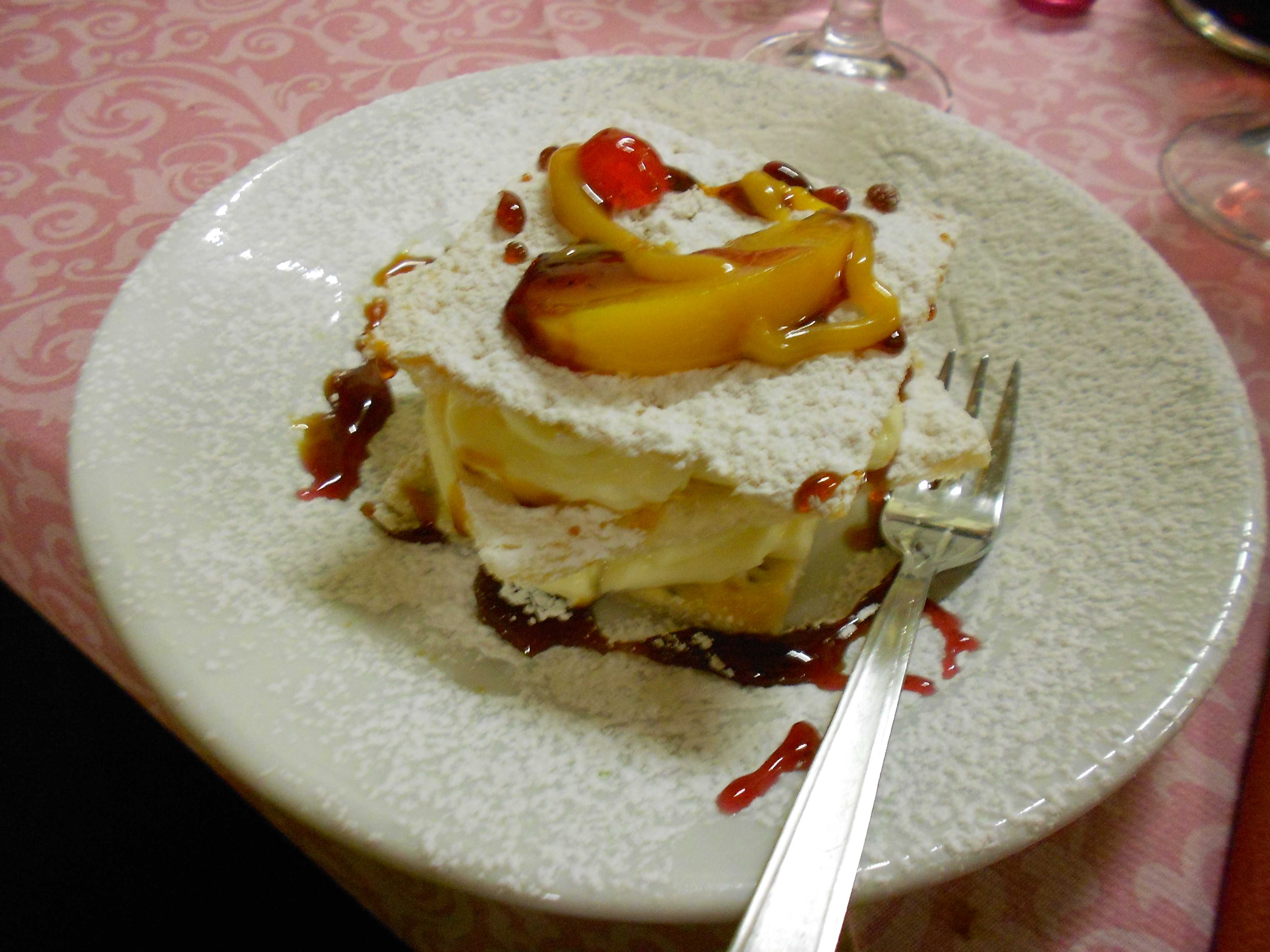 A delicious dessert named Acone style