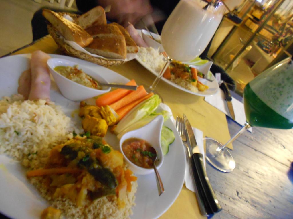 "The amazing food inside the ""Derb"" restaurant"