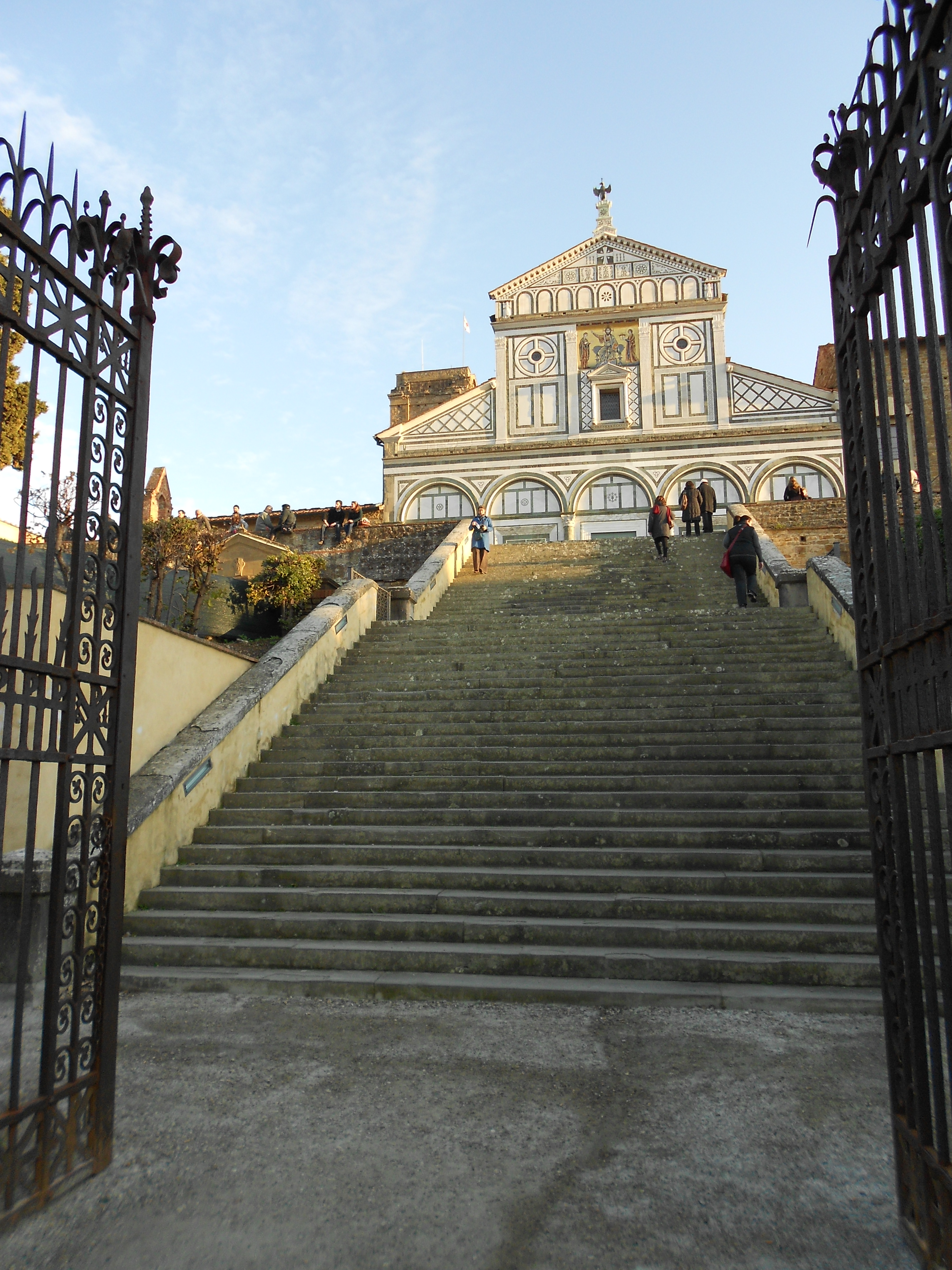 The main entrance to the church