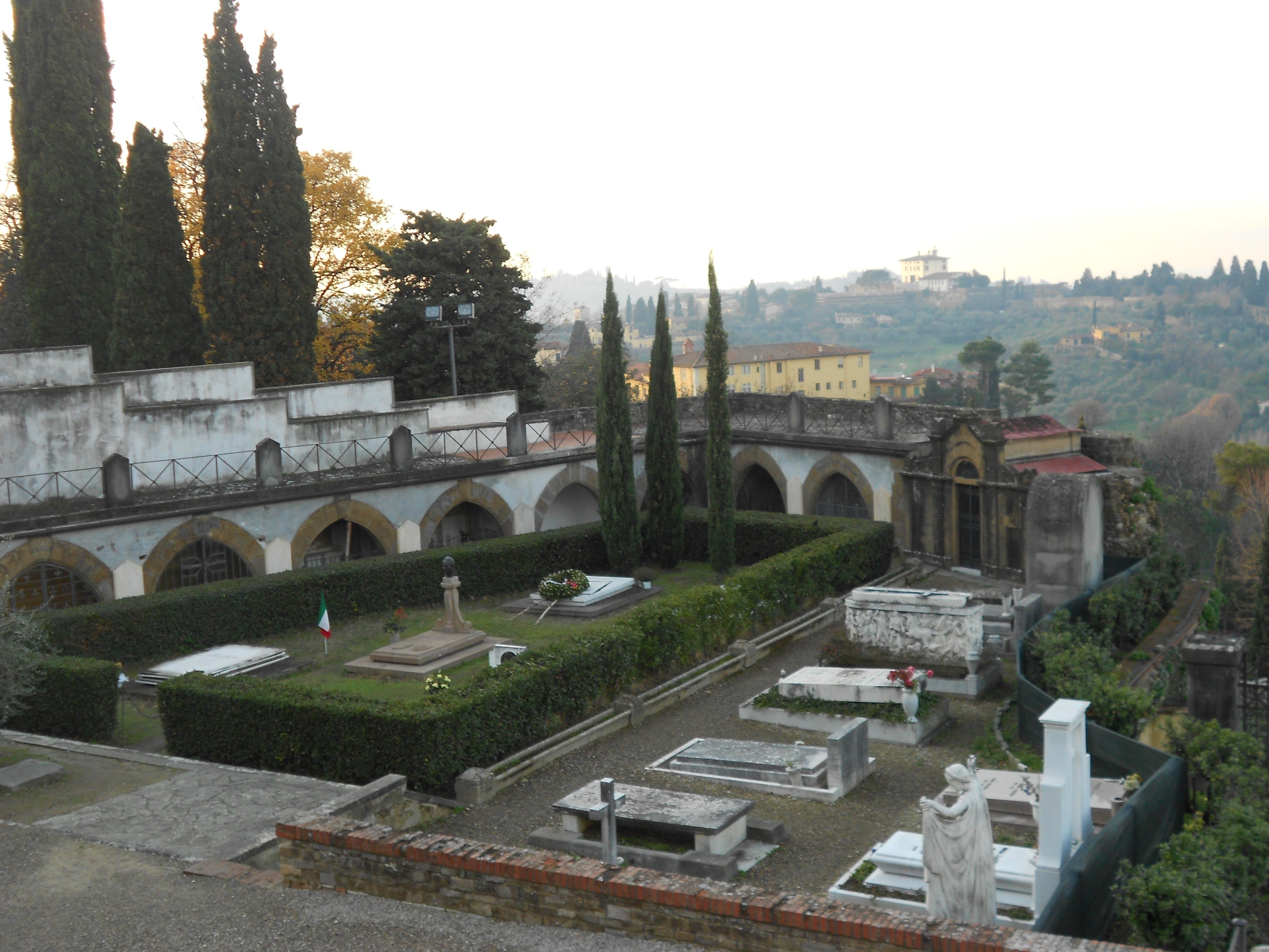"The ""spooky""cemetery of San Miniato"