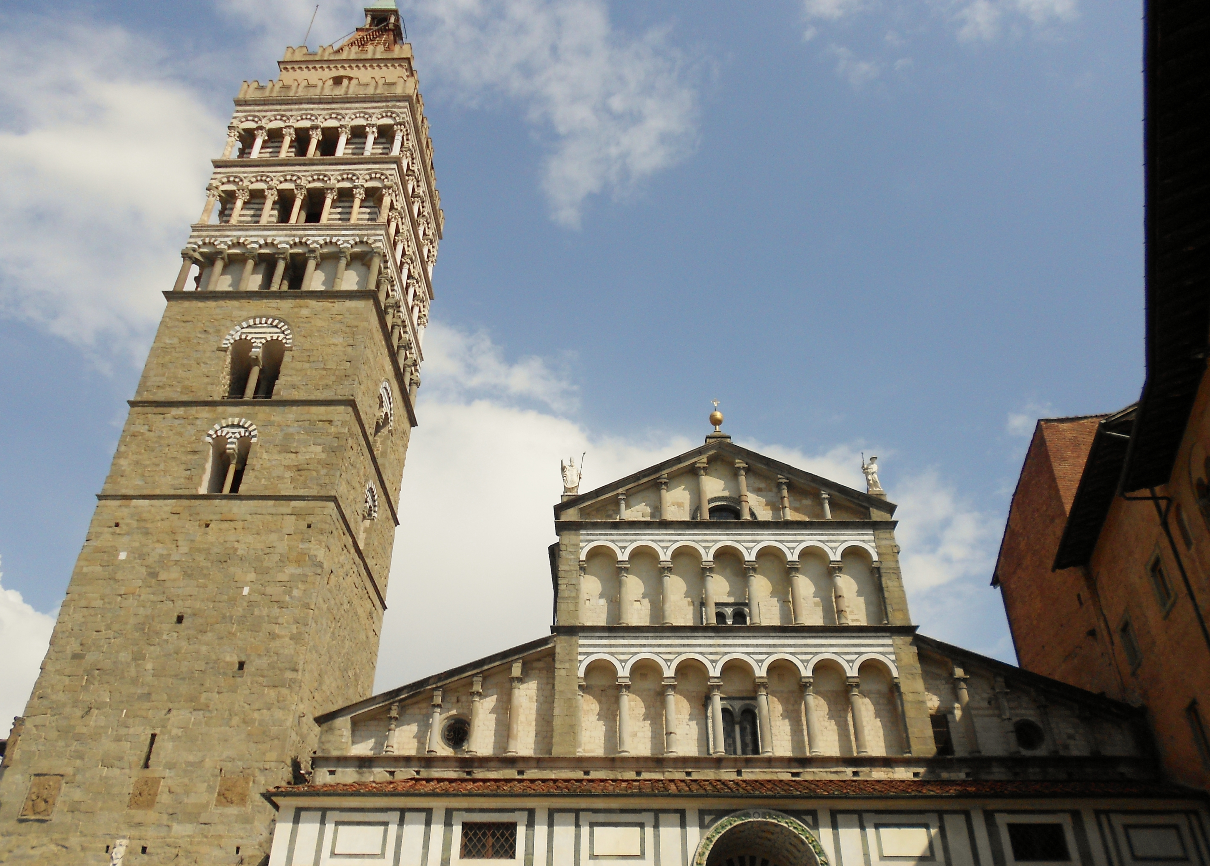Historical buildings in the city of Pistoia