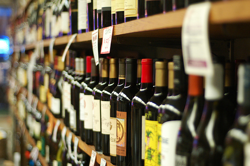 The different wines that can be found at the market