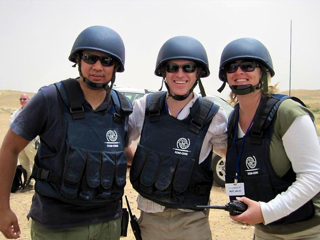 Aidan, taken in Jordan in an emergency response training with the UN