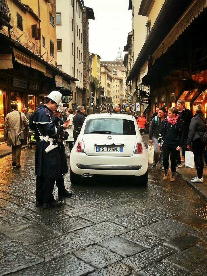 Driving on the Ponte Vecchio, nope wouldn't try that!