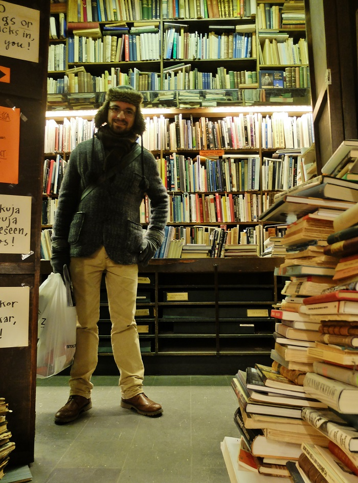 My northern gentleman in a famous Antiquarian Bookshop