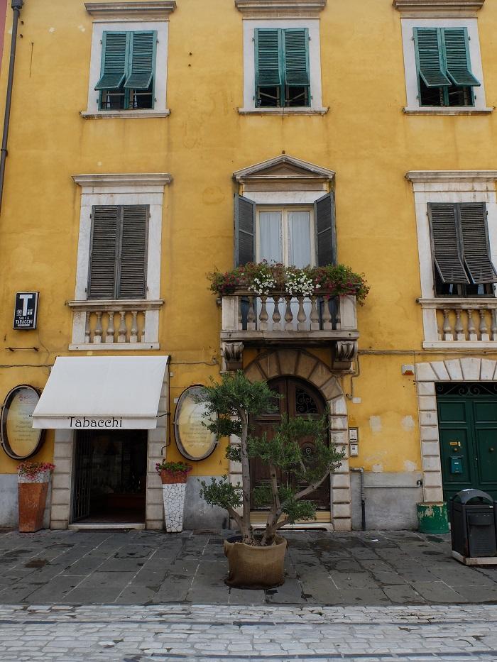 Beautiful buildings of Carrara, town center