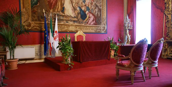 Sala Rosso in the Palazzo Vecchio. Ph. Comune di Firenze