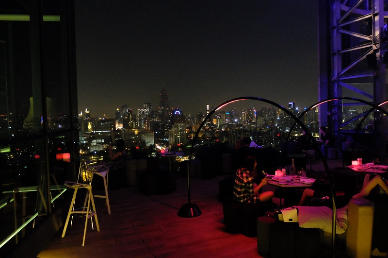 Sofitel So Bangkok rooftop bar, absolutely amazing!