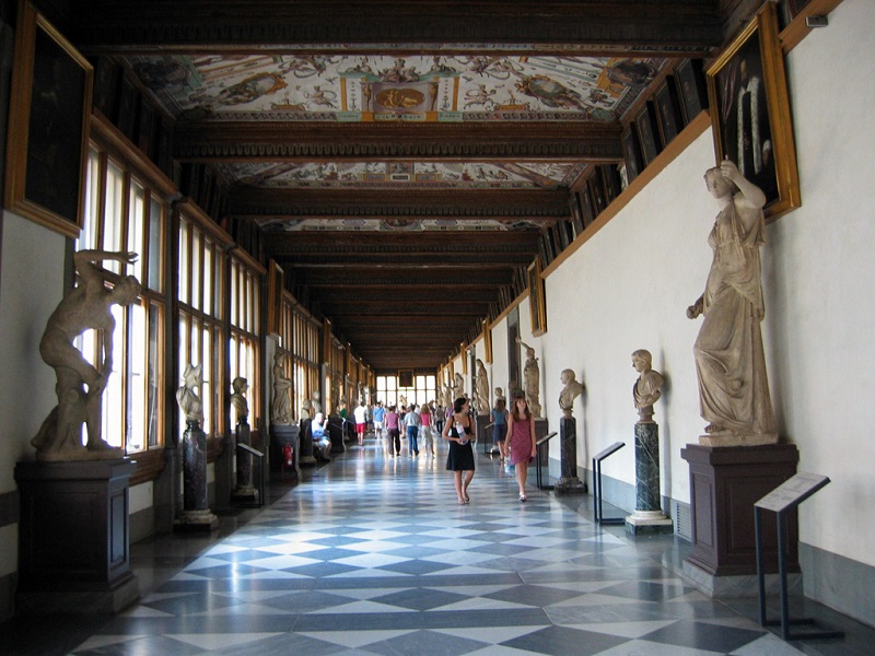 Uffizi Hallway, Photo credit: Wikimedia Commons