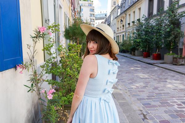 Ashley Bartlet in the Daydream powder blue Gingham Dress