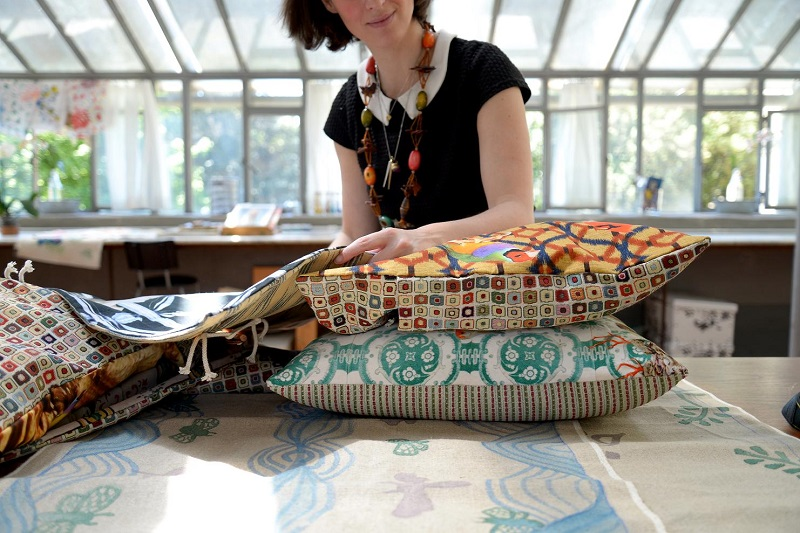 Maergherita in her studio, photo credit: Olivia Magris