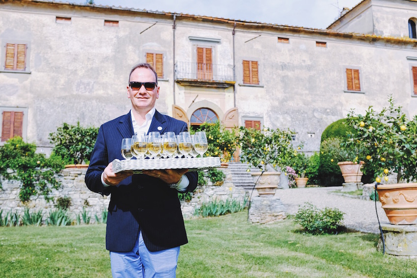 Eric at Villa Medicea di Lilliano, Photo by: Sasha Wang