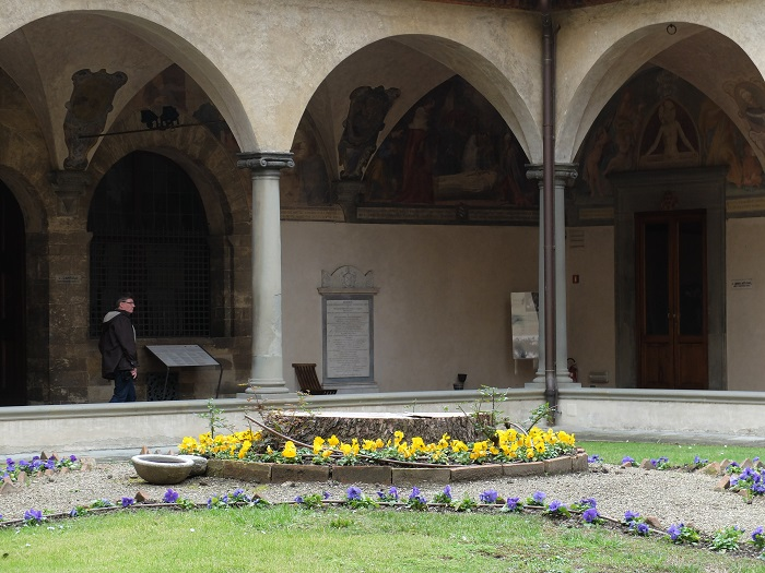 The cloister of San Marco museum, which is also open every Monday (8:15AM–1:20PM)