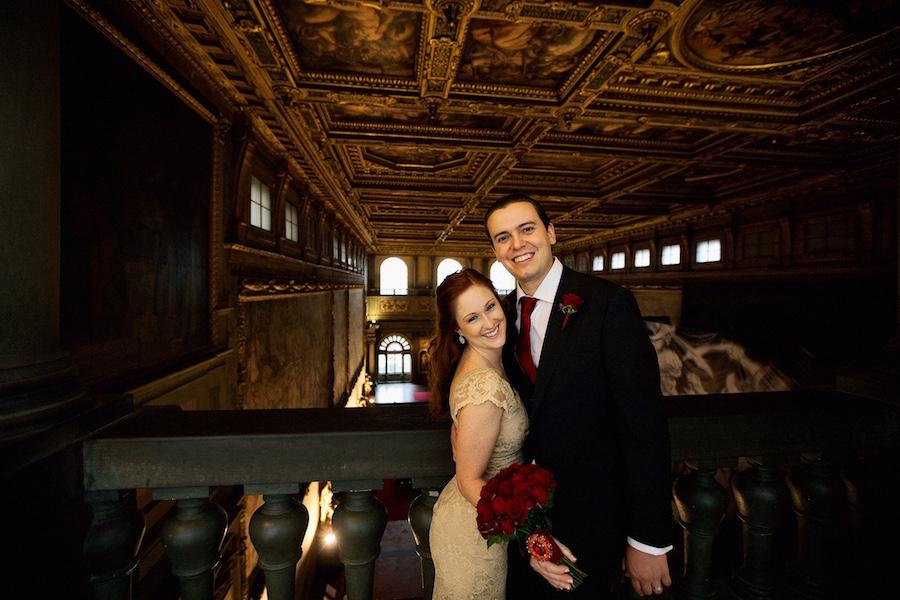 Shannon and Edo in the Salone dei Cinquecento in Palazzo Vecchio