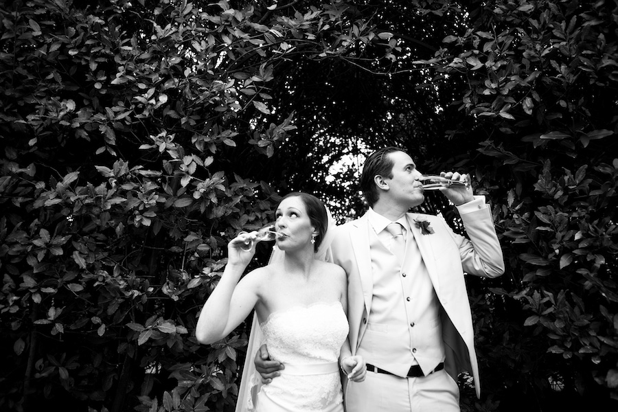 Shannon and Edo on their wedding day