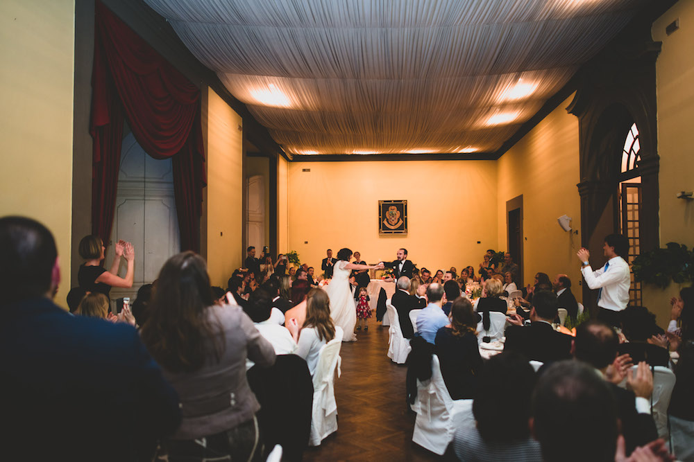 We didn't rehearse a dance move or plan really anything for our entrance but suddenly it just came together. Photo by: Francesco Spighi Photography