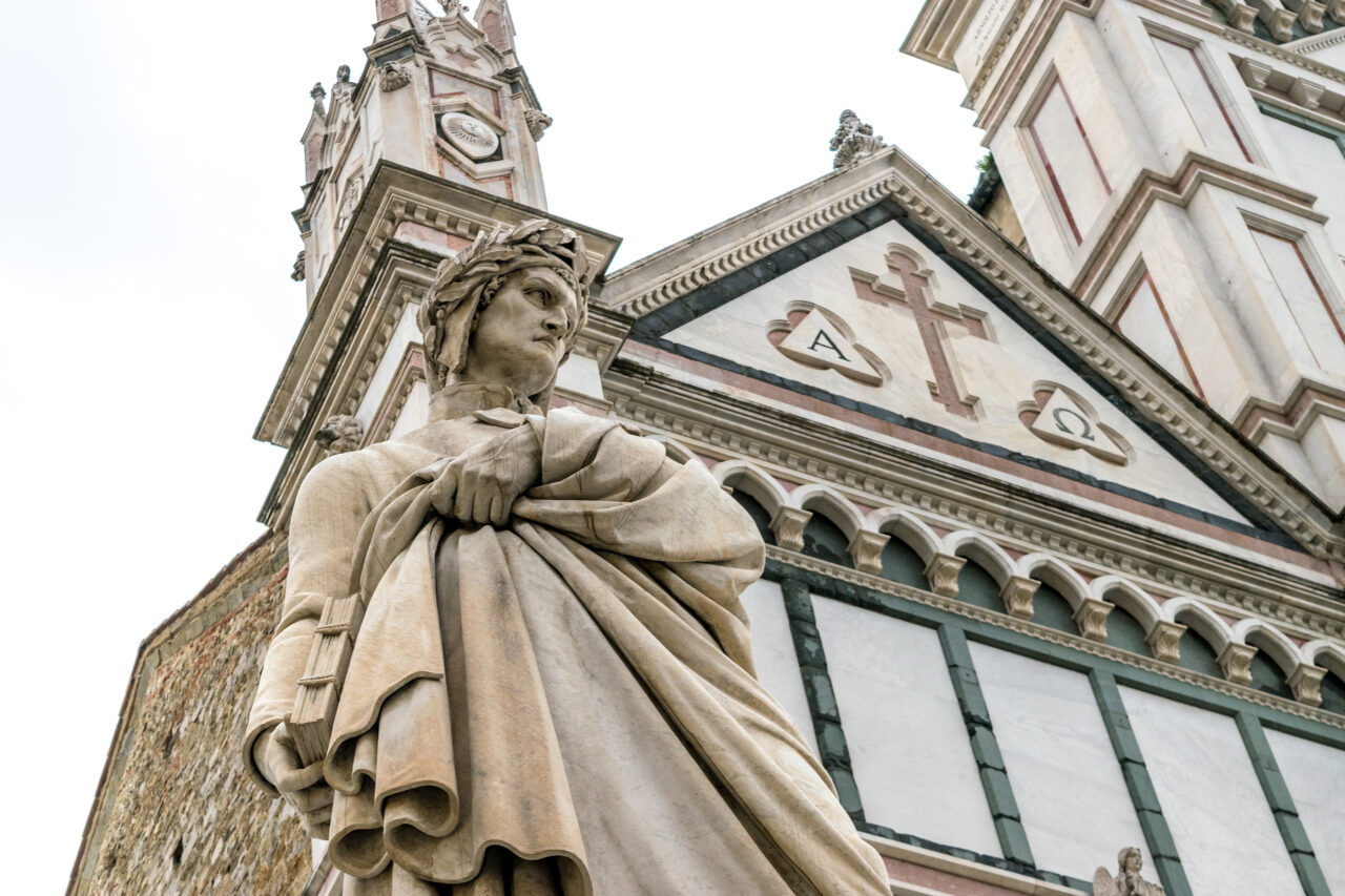 Dante Alighieri in Florence Italy